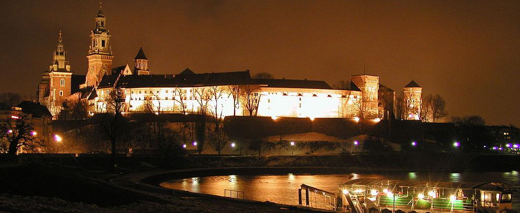 Cracovia de noche